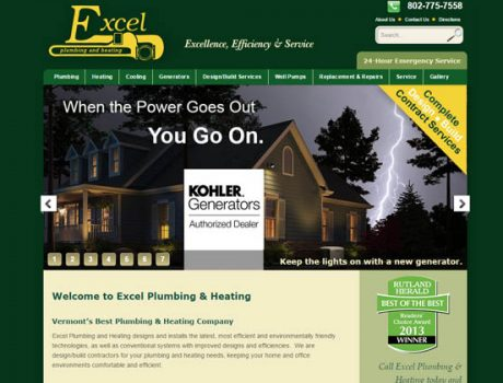 Excel Plumbing & Heating Website