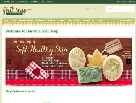Garland Goat Soap E-Commerce Website