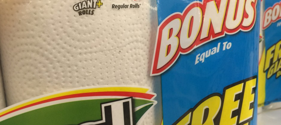 Toilet Paper Math and Product Labeling