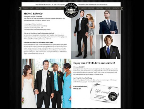 McNeil & Reedy — Website Design & Logo Refresh