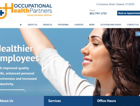 Occupational Health Partners Website & Logo