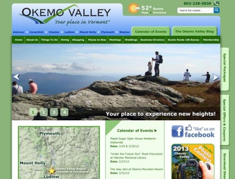 Okemo Valley Chamber Website