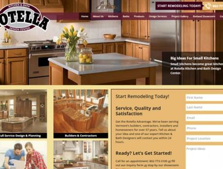 Rotella Kitchen and Bath Design Center Website
