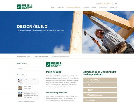 Russell Construction Services Website & SEO